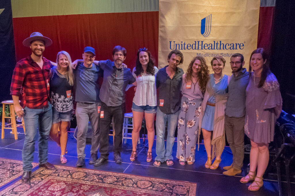 Top 10 Finalists of Al Johnson Performing Songwriter Contest at Wildflower! Arts & Music Festival in Richardson
