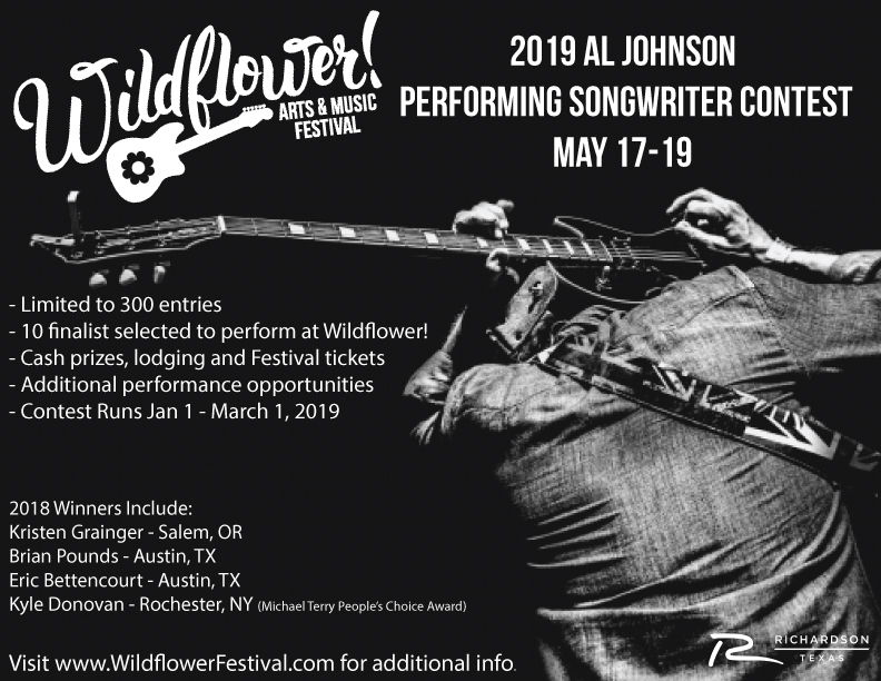 Wildflower! Al Johnson Performing Songwriter Contest